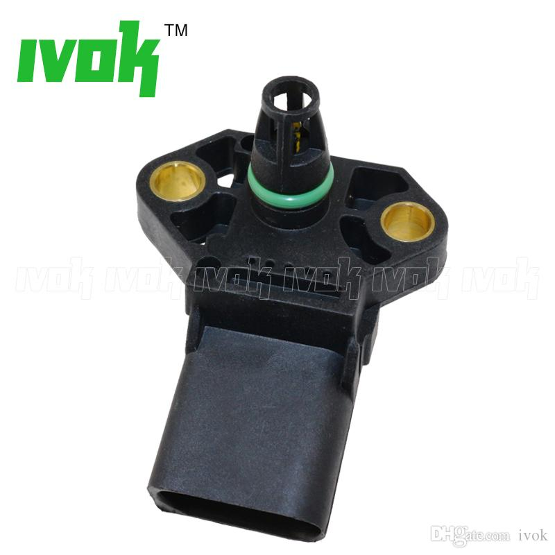 3 Bar Manifold Pressure MAP Sensor For AUDI A4 A5 A6 A8 Q5 Q7 TT S5 S6 038906051C, 038 906 051 C, 0281002401