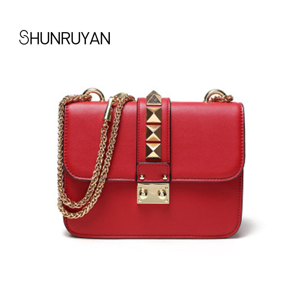 1bd7542df8af SHUNRUYAN New 2018 Quality PU Fashion Vintage Rivets Casual Women ...