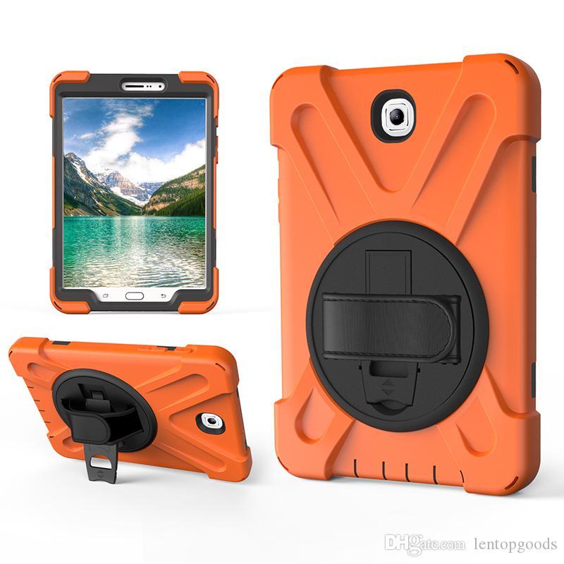 Acheter 360 Cas Pour Samsung Tab Rotating S2 8.0 T710 T719 T715 Etui En Silicone Hybride Avec Dragonne De 7,79 € Du Lentopgoods   Fr.DHgate.Com