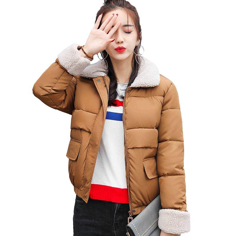 00440950e 2018 nueva llegada Estilo Coreano corto chaqueta de invierno de las mujeres  abrigo abajo abajo para mujer abrigo moda acolchado chaquetas básicas ...