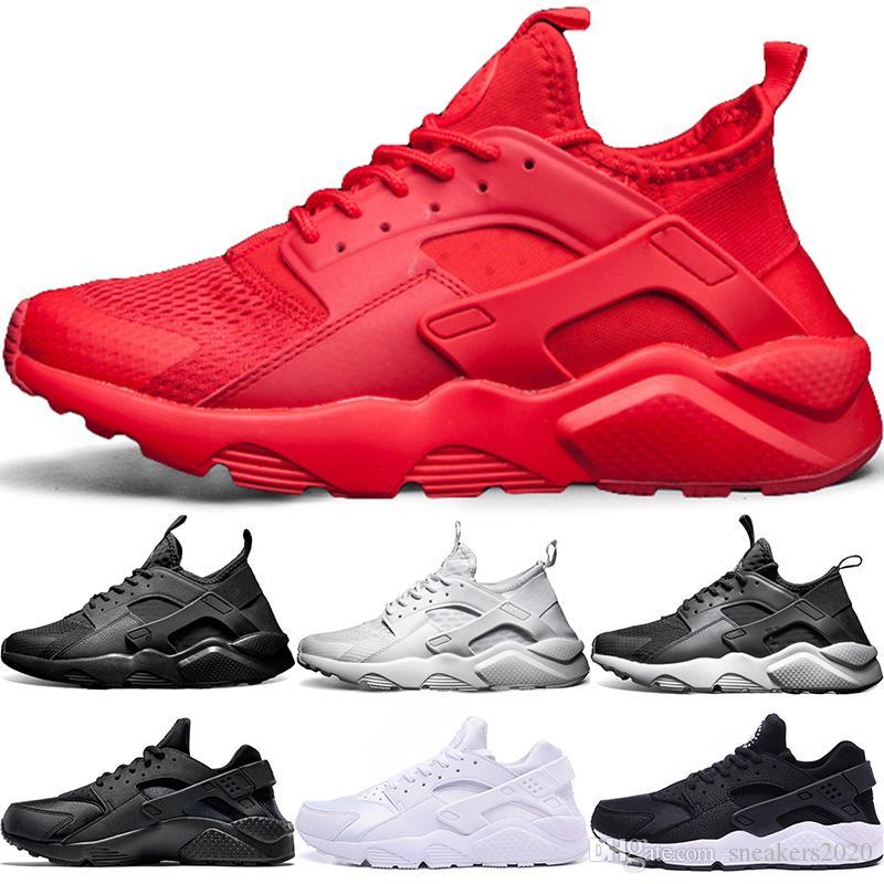 info for a9adf 95845 Compre Nike Air Huarache Barato 1 4 Homens Mulheres Tênis De Corrida Ultra  Triplo Preto Branco Vermelho Oreo Huaraches Designer Formadores Esporte  Sneaker ...