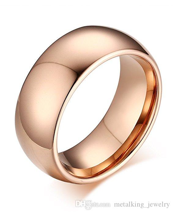 8d514ed7b 2019 8mm Tungsten Rings For Men Women Rose Gold Mirror Polished Wedding Band  Comfort Fit,Size 7 13 From Metalking_jewelry, $6.03 | DHgate.Com
