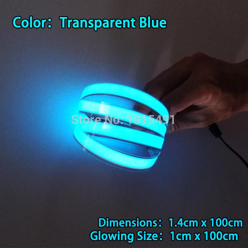 2017 New 1.4x100cm Not Include Drives,Glowing El Tape El Wire Led ...