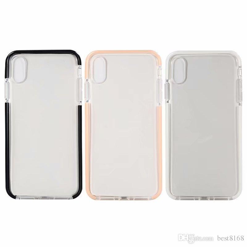 7b6527b4b90 Fundas Para Celulares Personalizadas Para Iphone XR XS MAX Hybrid TPU Funda  Suave Para Iphone X 10 8 7 6 Plus Clear Gel Moda Dual Color Bicolor En  Blanco ...
