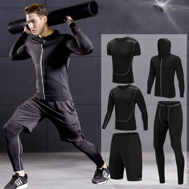 50f6ff778d3 2019 2018 Quick Dry Men S Running Sets 3 4  Sets Compression Sport Suits  Basketball Tights Clothes Gym Fitness Jogging Sportswear From L362280545