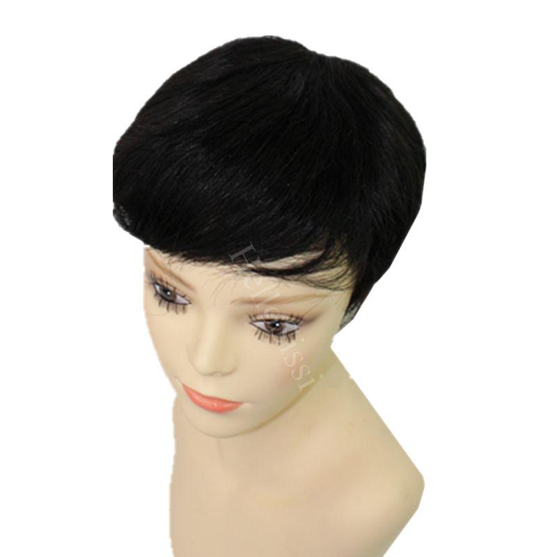 Celebridade peruca Máquina feita peruca curta humano Real cabelo nenhum laço brasileiro cabelo liso glueless cheia do laço humano real peruca de cabelo