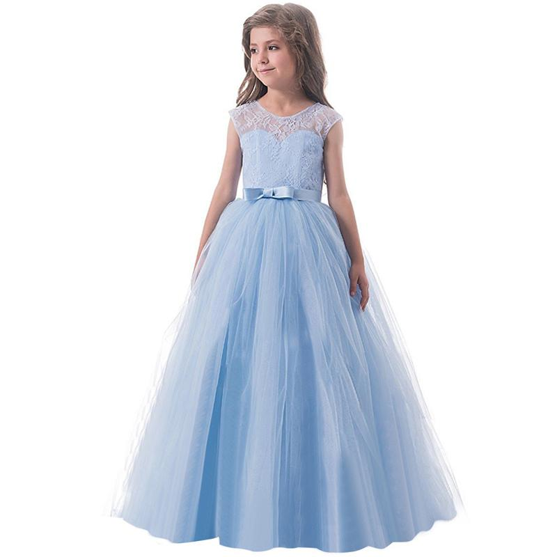 Princess Formal Gowns Kids Girl Dress Wedding Birthday Party Dresses Princess Costumes 6-14 Years Children Bridesmaid Clothing