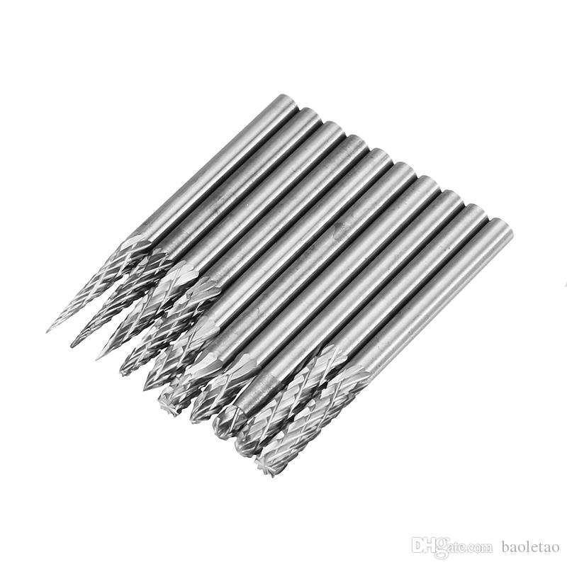 3x3mm Tungsten Carbide Burr Rotary Drill Bits Files Cutter Set