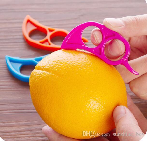 Sevimli Fare Şekli Limonlar Turuncu Narenciye Açacağı Soyucu Sökücü Dilimleme Kesici Hızla Sıyırma Mutfak Aracı Meyve Cilt Sökücü Bıçak