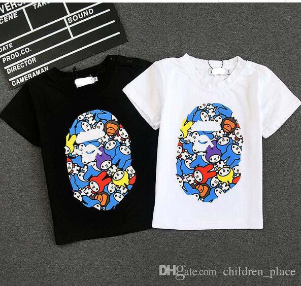 cfbb95ec6926f 2019 Wholesale 2018 Brand New Children Clothing Baby Girl Summer Graphics  Tee Baby Boy Cartoon Short Sleeved Top Kid Monkey Tee .