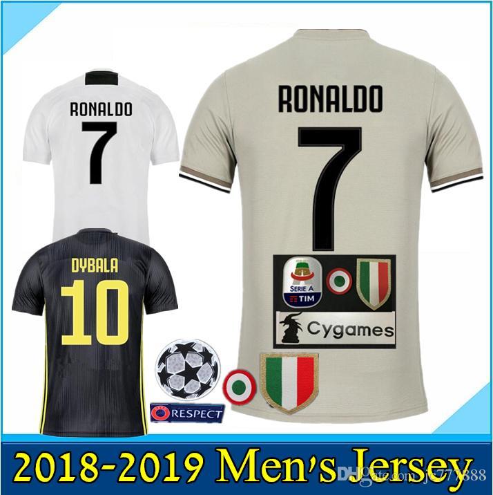 29c9138ce 2019 2019 Juventus Soccer Jersey 18 19 RONALDO DYBALA BUFFON Soccer Shirt  MARCHISIO MANDZUKIC PJANIC HIGUAIN Football Uniform Sales Size S 3XL From  Jc777888 ...