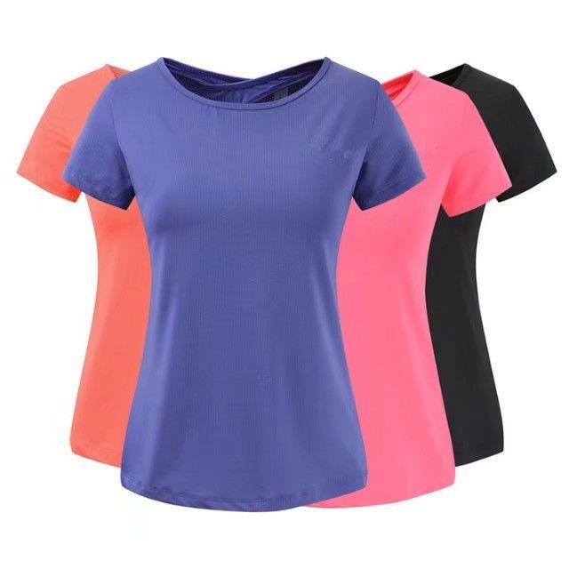 Esportes ao ar livre das mulheres T-shirt Nova Marca de Verão Mulheres Tops Respirável Feminino Casual Tee 4 Cores de Manga Curta T-shirt