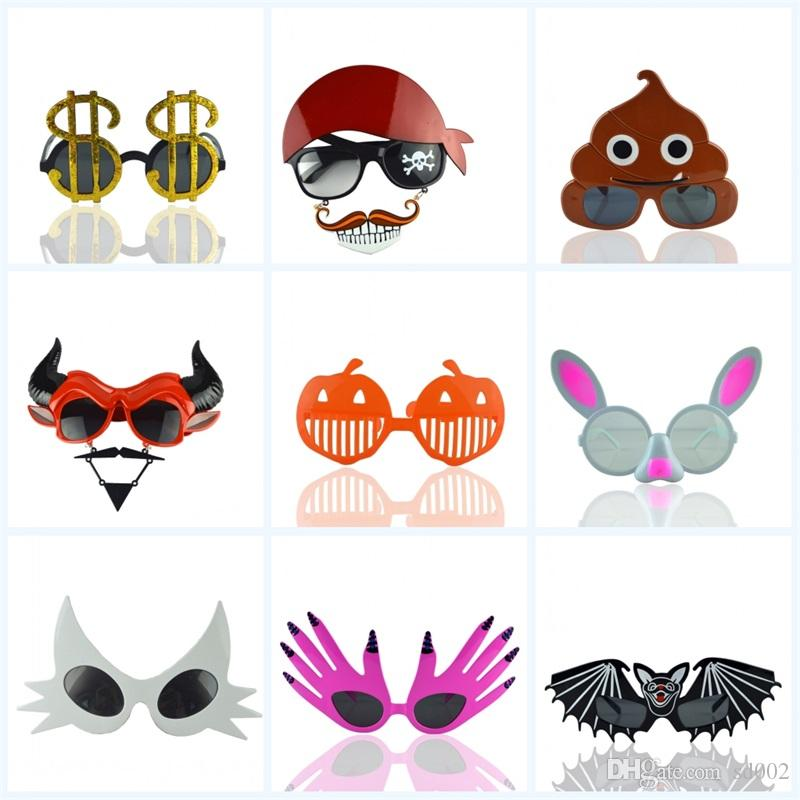 Halloween Christmas Party Sunglasses Funny Ghost Glasses Dollar Cat Mask Masquerade Ball Exquisite Portable Eyeglass Kids Gift 5cr jj