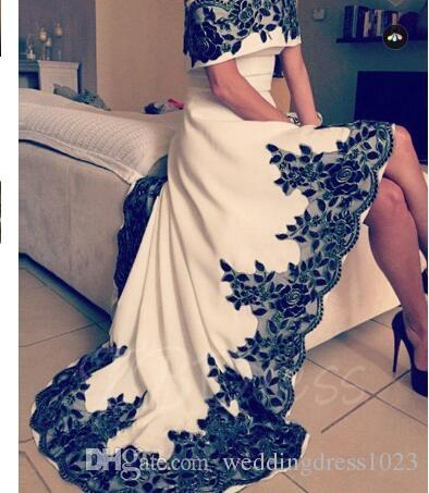 Off-the-Shoulder A-Line Appliques High Low Evening Dress