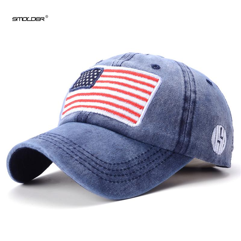 [SER] 2018 Brand New Dad Hats Men USA Flag Baseball Cap Casual Fitted  Snapback gorras para hombre Embroidery Hip Hop Caps