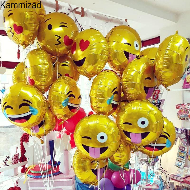 Emoji Party Foil Balloon Unicorn Balloons For Birthday Emoticons Helium Rose Gold Globos Wedding Air Ballons Hotairbaloon Latex From