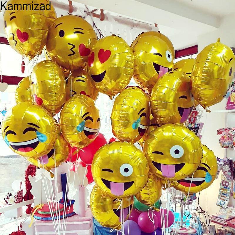 Emoji party foil balloon 10pcs/lot unicorn balloons for birthday party  Emoticons helium rose gold globos wedding air ballons