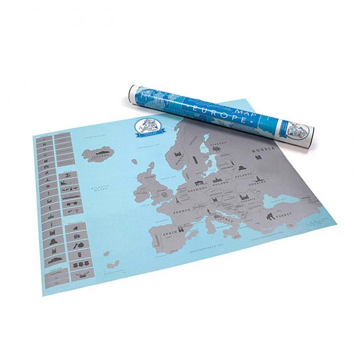New arrival Creative Scratch Europe Map DIY Art Paper Travel Vacation on