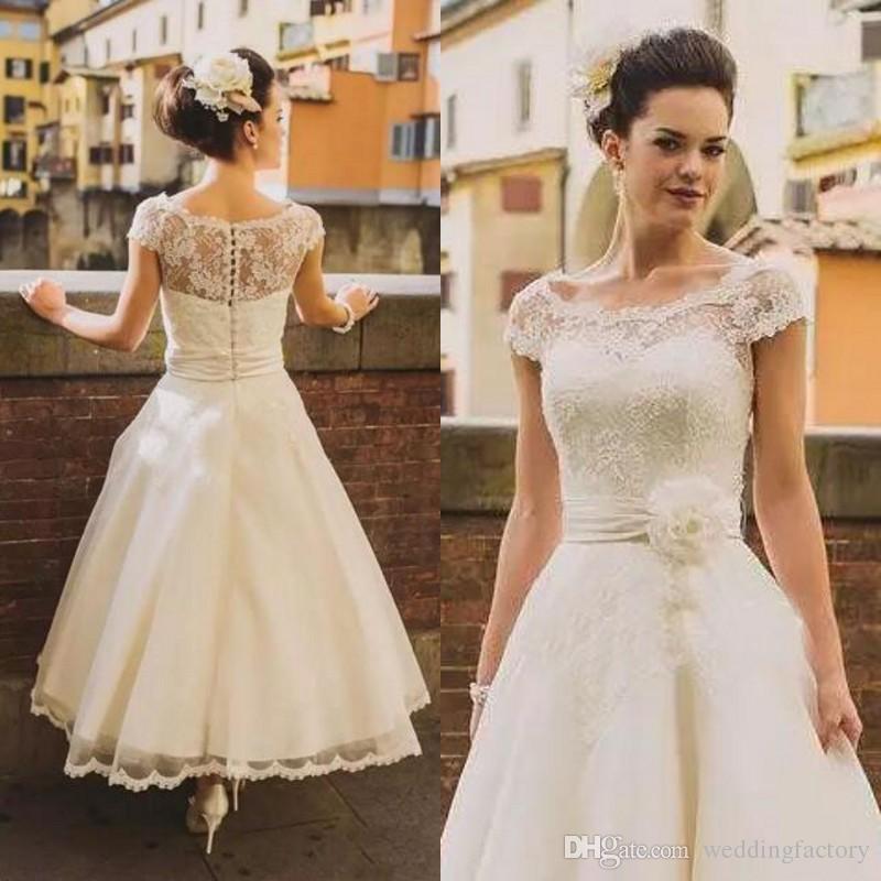 compre estilo de los años 50 vestidos de novia vintage 2018 ilusión