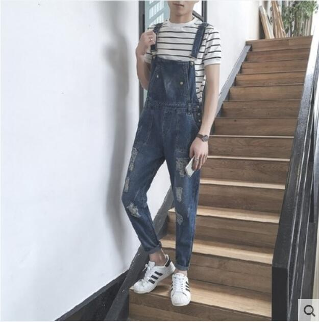 112e11955b4 2019 S XXL 2018 New Korean Fashion Men S Jumpsuit Summer Casual Simple  Denim Overalls Jumpsuits From Cactuse