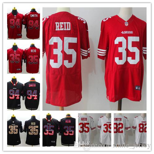 competitive price 2e9c6 d137c New Mens 35 Eric Reid San Francisco Jersey 49ers Football Jersey Stitched  94 Charles Haley 49ers 82 Jason Witte Color Rush Football Shirt