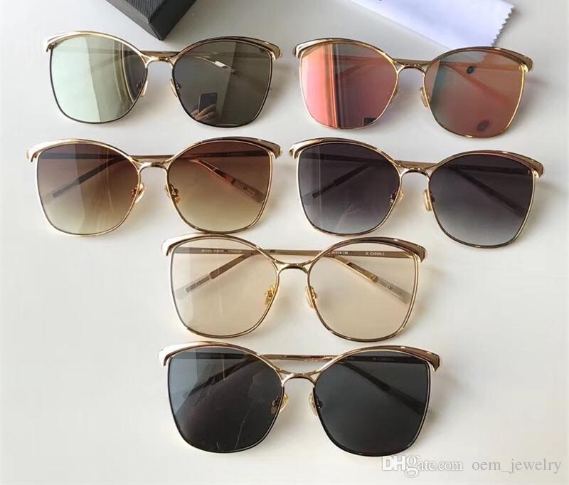 c650be3a05b 2018 Fashion Cat Eye Sunglasses Lady Oversized Adumbral Sunglass Luxury  Hipster Sun Glass Mirror Big Frame Polarized Sunglass UV400 Eyewear  Sunglasses ...