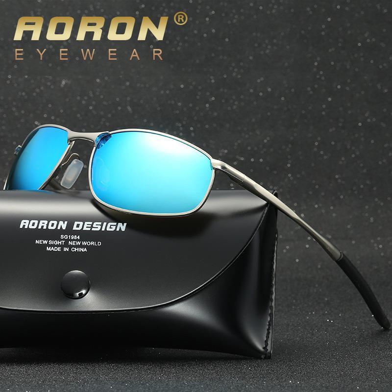 4e40f38ca337b Compre Marca Designer Masculino Óculos De Sol Dos Homens Polarizados  Motorista Óculos Óculos De Sol Da Polícia HD Condução Oculos De Sol Soleil  Homme ...