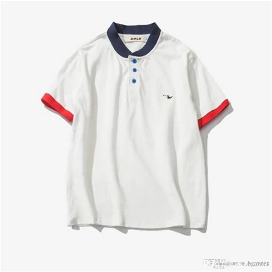 White Polo Short Sleeved T Shirts Male Fat Plus Size Summer Youth