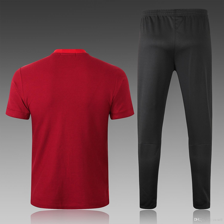 2018 Por Soccer Jerseys Para Hombre Short 18 19 Camisetas De Fútbol De  Manga Corta De Fútbol Conjunto De Entrenamiento Barato Chándal Ropa  Deportiva Por Cn ... bd8bf6973b5cb