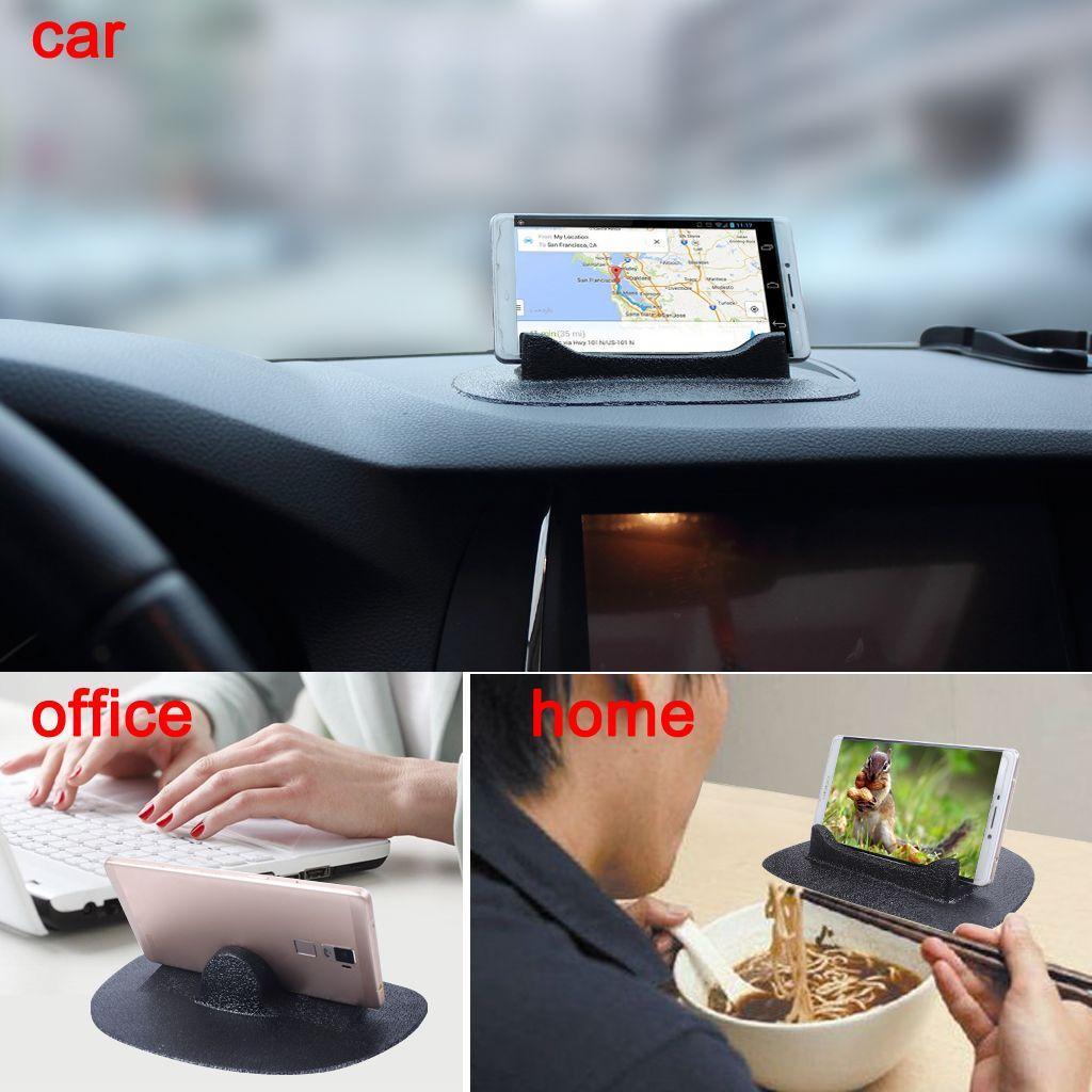 Siyah Silikon Anti-kayma Paspaslar Araba Araç Telefonu GPS Tutucu Standı kaymaz Mat Ücretsiz Kargo ile EXPRESS