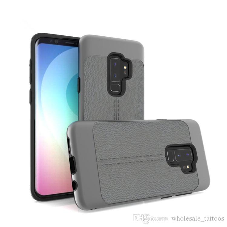 Armor Case For LG Rebel 3 Aristo 2 Plus Q Stylus K30 Q Stylus Plus Cover  Luxury Litchi Grain Leather Line TPU PC Shockproof Back Cover