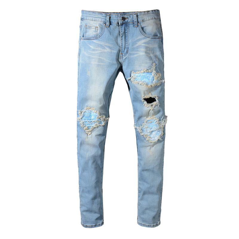 Compre Balmain Fashion New Para Hombre Diseñador Biker Jeans Color Sólido  Moda Flaco Jogging Pantalones Casual Hombre Pantalones Marca Hip Hop Harem  ... c3b8cfe12a0