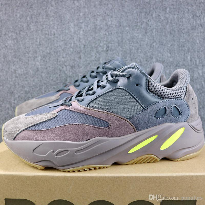 new product ccd00 b3593 Mauve 700 Runner 2018 New Kanye West Wave Mens Women Athletic Best Quality  700s Sports Running Sneakers Shoes 36-46 With Box