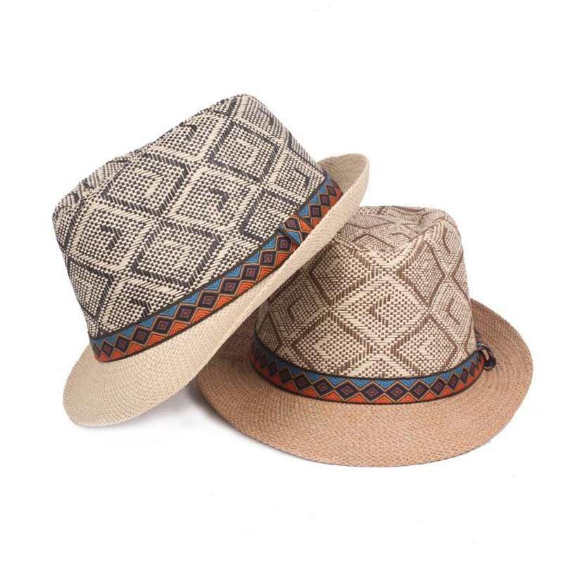 94f994b08d0 Adult Unisex Hat Chapeau Panama Jazz Church Cap Ethnic Style Outdoor Beach  Sun Mens Hats And Caps For Men Summer Fedoras Hat Women UK 2019 From  Gerry li