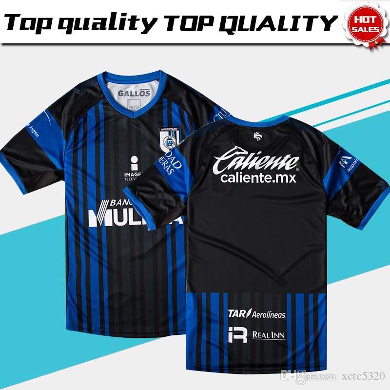 Nuevo 2019 Queretaro FC Home Blue Soccer Jersey 18 19 Los Gallos Blancos  Home Soccer Shirt 2018 Queretaro Football Uniform Rebajas Por Xctc5320 75b572a0e7710