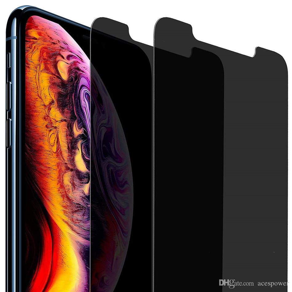 لفون برو 11 XR XS MAX X الشاشة الخصوصية حامي مكافحة التجسس ريال خفف من الزجاج للحصول على سامسونج S7 J7 رئيس موتو LG Stylo3