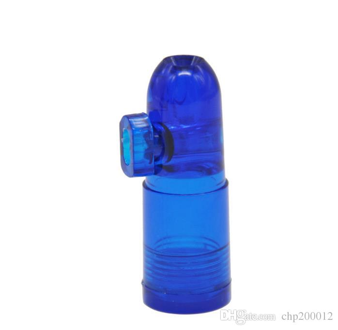 Acrylic snuff bottle Snuff Bullet Plastic material easy to carry plastic small pipe