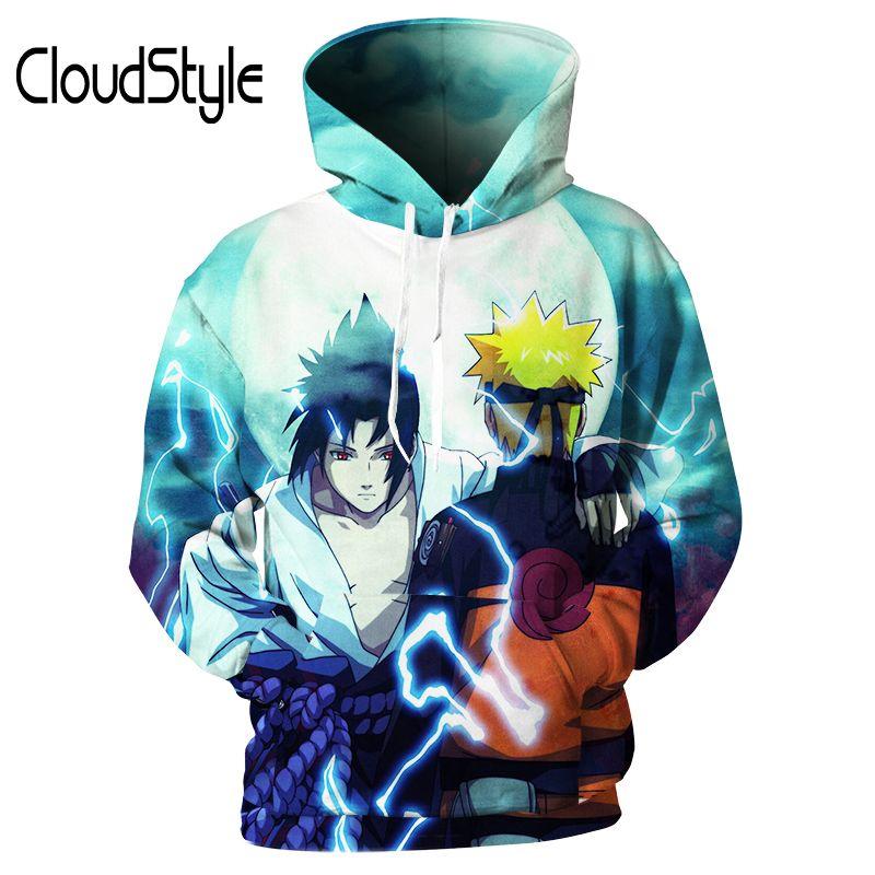 2018 cloudstyle 2018 naruto mens hoodies 3d anime hoodie hip hop