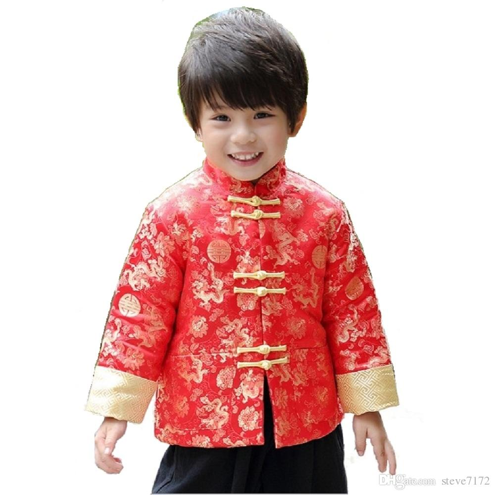 2018 China Dress Children Tang Coat Baby Boys Clothes Dragon Party  # Bois En Chaene