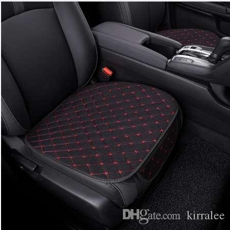 Car Seat Protector Mat Auto Front Cover Cushion Single Fit Most Vehicles Breathable Comfortable Linen Driver Chair Pad Seats Covers For Trucks Set