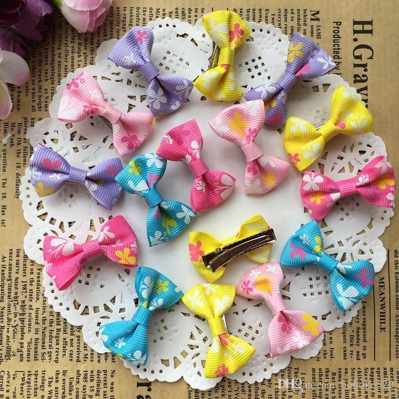 d6d7b9664f66 1.4 Cute Colorful Butterfly Print Small Bow Kids Baby Girls Hair Clips  Hairpins Barrettes Hair Accessories Gifts Little Black Girl Hair  Accessories Hair ...
