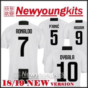 2019 2018 19 RONALDO Soccer Jersey 18 19 JJ Football Shirt NEW Font MATUIDI  MANDZUKIC HIGUAIN PJANIC DYBALA Soccer Shirt From Newyoungkits 7ddd1a5a8