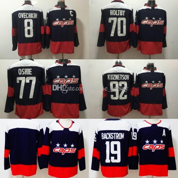2019 Wholesale 2018 Stadium Series Hockey Washington Capitals 8 Alexander  Ovechkin Jersey 77 TJ Oshie 70 Braden Holtby 2015 Winter Classic From  Movie jersey ... f69fd9d56