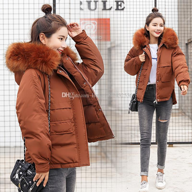 c80b0197e3 New Female Student Fashion Harajuku Short Loose Bread Service Thick ...