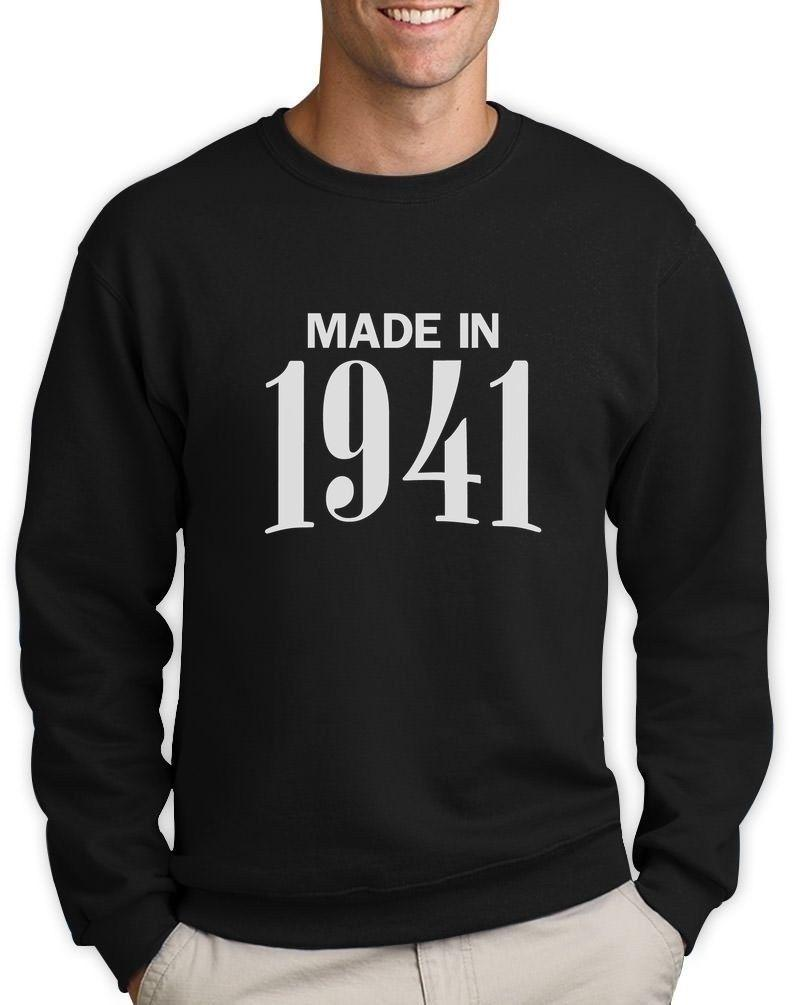 Made In 1941 Retro 75th Birthday Gift Idea Cool Sweatshirt Bday Present Mens Formal Shirts Buy T Online From Banwanyue7 1533