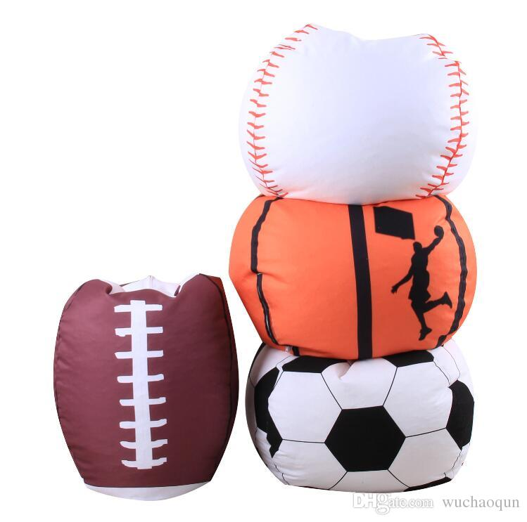 Outstanding 4 Designs 18 Inch Ball Bean Bag Football Basketball Baseball Storage Bean Bag Baby Stuffed Plush Pouch Bag Organizer Beanbag Chair Back Bags For Girls Ocoug Best Dining Table And Chair Ideas Images Ocougorg