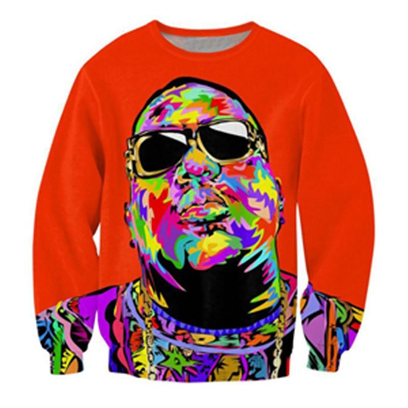 0b3dfbad37c 2019 Newest Fashion B.I.G. Biggie Smalls Tupac 3d Print Sweats Fashion  Clothing Women Men Sweatshirt Casual Pullovers K197 From Superman201898