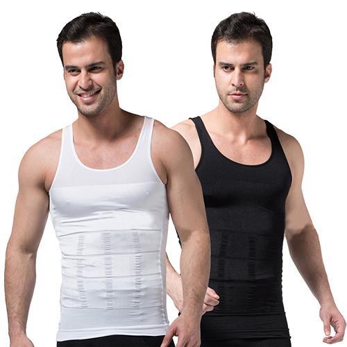 f82cbf9d2c4030 2019 Men s Slimming Body Shaper Waist Corset Tank Top Underwear Shapewear  From Caesarl