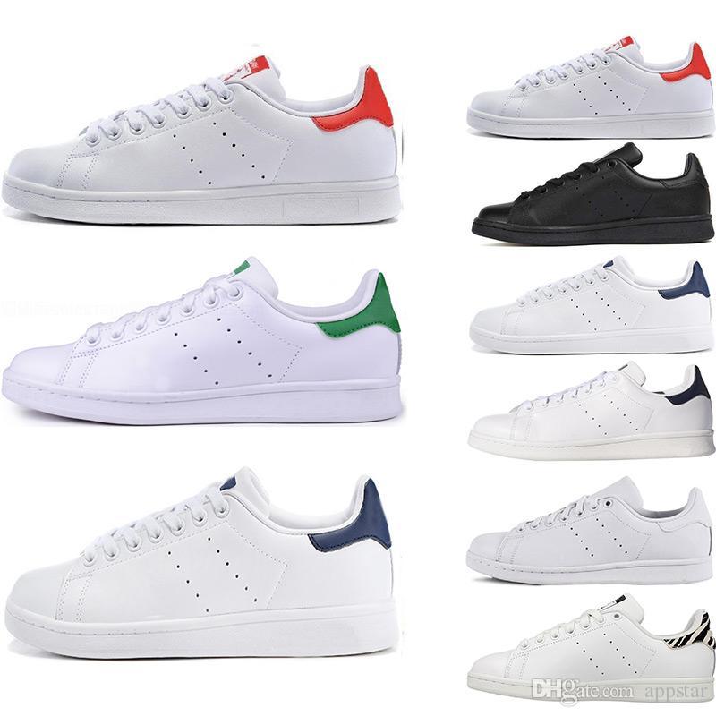 03a5644a7e Compre Stan Smith Moda Stan Zapatos De Calidad Superior Smith Marca Para  Mujer Para Hombre De Cuero Casual Zapatillas Deportivas Skateboard  Zapatillas ...