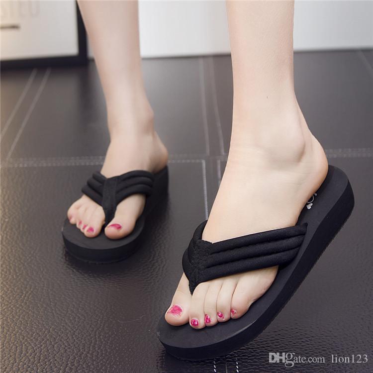 fd7f4571bcd New Summer Bohemia Fashion Flip Flops Platform Wedges For Women Sandals  Platform Flip Slippers Beach Shoes Sandals For Men Jelly Sandals From  Lion123